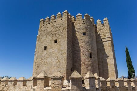 Historic city gate Torre de Calahorra in Cordoba, Spain