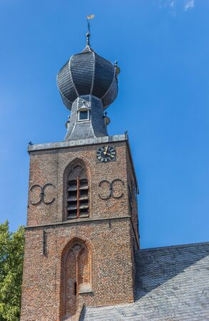 Onion dome tower of the church in Dwingeloo, Netherlands Stockfoto
