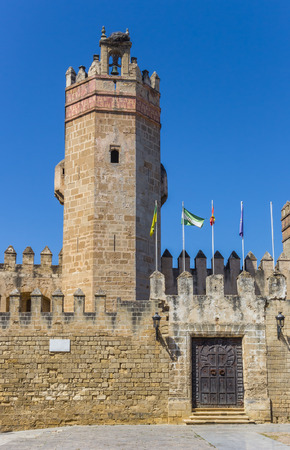 Tower of the San Marcos castle in El Puerto de Santa Maria, Spain