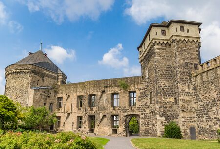 Garden of the castle ruins in Andernach, Germany Imagens - 133497146