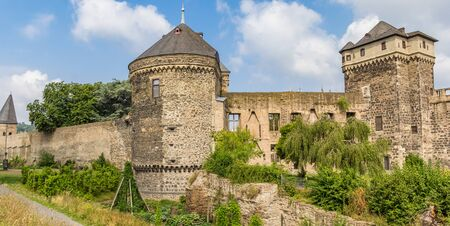 Panorama of the castle ruins in Andernach, Germany