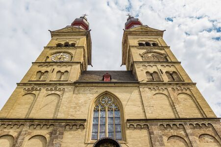 Facade of the Liebfrauenkirche church in Koblenz, Germany Standard-Bild - 131356549