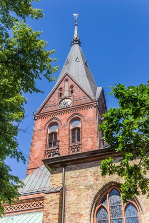 Tower of the Marienkirche church in Flensburg, Germany