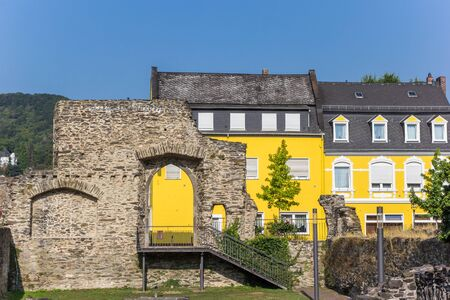 Roman ruins of the castle of Boppard, Germany Imagens - 133497218