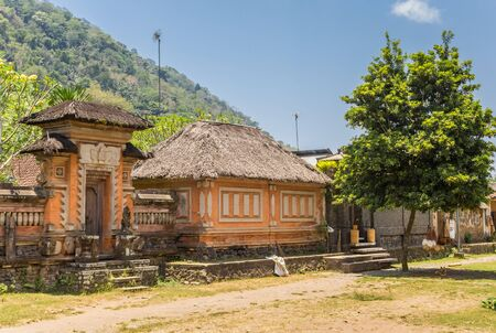 Traditional indonesian house in Tenganan village on Bali, Indonesia Banque d'images