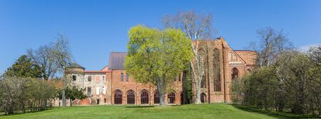 Panorama of the Klosterkirche church at the monastery of Dargun, Germany Imagens - 133336159