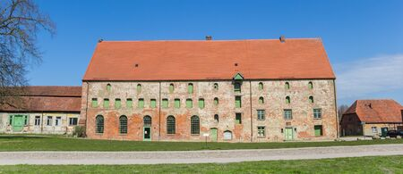 Panorama of historic buildings of the monastery in Dargun, Germany Imagens