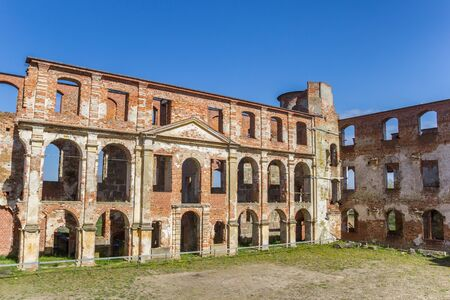 Ruins at the courtyard of the abbey in Dargun, Germany Imagens