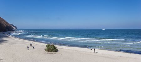 Panorama of the beach and sea in Sellin on Rugen island, Germany Imagens - 132845869