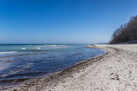 Beach and coastline near spa town Sellin on Rugen island, Germany