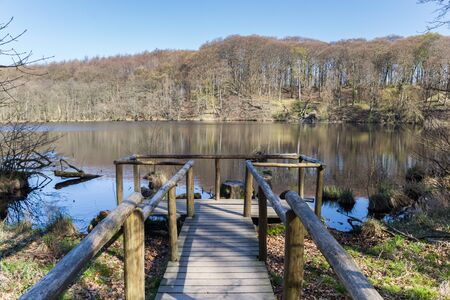 Herthasee lake in Jasmund National Park on Rugen Island, Germany Imagens - 132845876