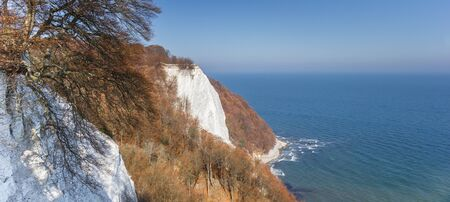 Panorama of the famous white cliff Konigsstuhl in Jasmund National Park, Germany Imagens