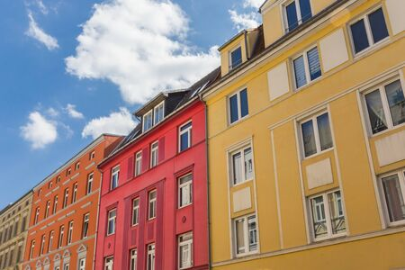 Colorful apartment building in the center of Schwerin, Germany