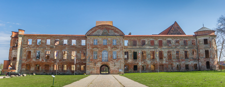 Panorama of the facade of the abbey in Dargun, Germany Imagens - 133268199