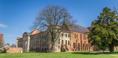 Panorama of the historic abbey in Dargun, Germany