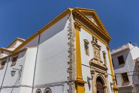 Historic Nuestra Senora Carmen church in Alcaudete, Spain 스톡 콘텐츠