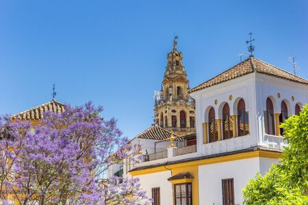 Tower of the Mosque Cathedral in Cordoba, Spain Imagens