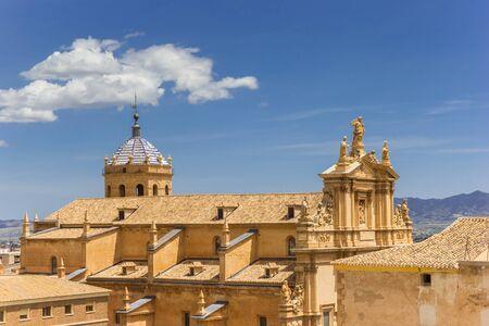 Aerial view of the San Patricio church in Lorca, Spain Imagens