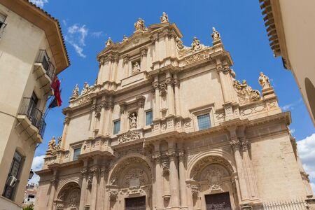 Facade of the historic San Patricio church in Lorca, Spain