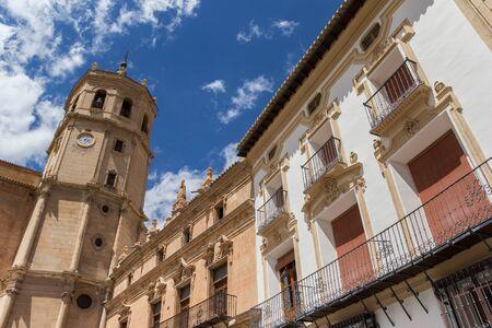 Tower of the San Patricio Collegiate church in Lorca, Spain