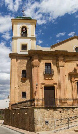 Tower of the Santiago church in Lorca, Spain