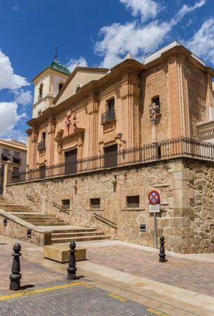 Historic Santiago church in the center of Lorca, Spain Imagens