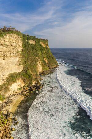 High cliffs at the Ulu Watu temple on Bali, Indonesia