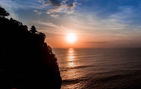 Sunset at the Ulu Watu temple on Bali, Indonesia