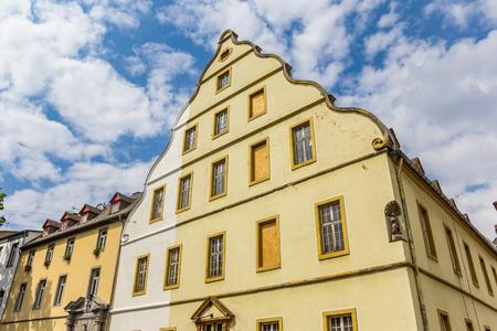 Historic Burresheimer Hof building in the center of Koblenz, Germany Imagens - 133490953