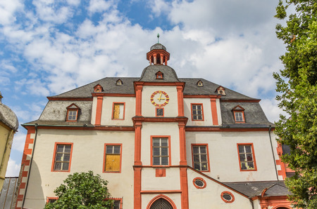 Facade of the historic merchants house in Koblenz, Germany Editorial