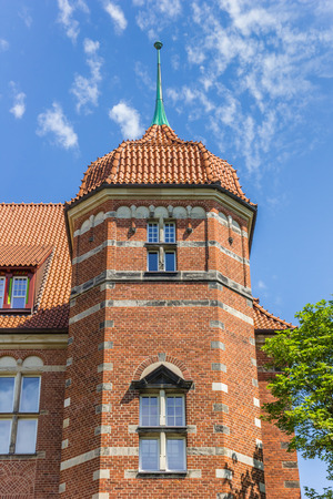 Tower of the Museumsberg building in Flensburg, Germany Imagens - 133490958