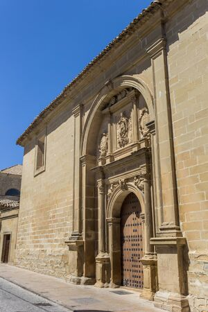 Entrance to the Conception church in Baeza, Spain