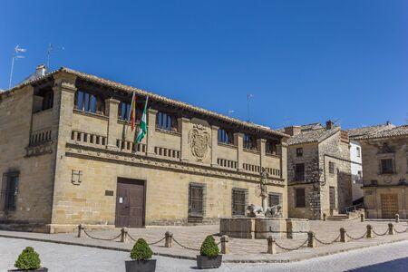 Historic building Antigua Carniceria in the center of Baeza, Spain