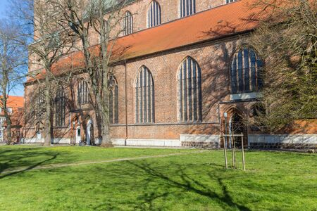 Historic Dom St. Nikolai church in Greifswald, Germany
