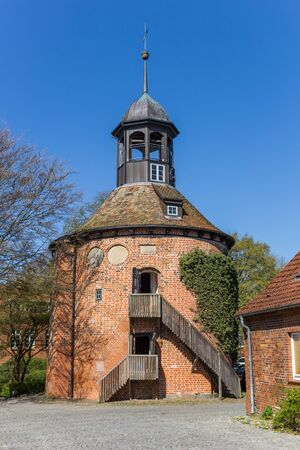 Castle tower in historic city Lauenburg, Germany