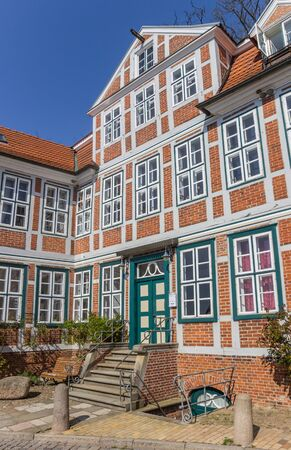 Facade of a historic house in Lauenburg, Germany