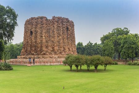 Alai Minar monument at the Qutub Minar site in New Delhi, India