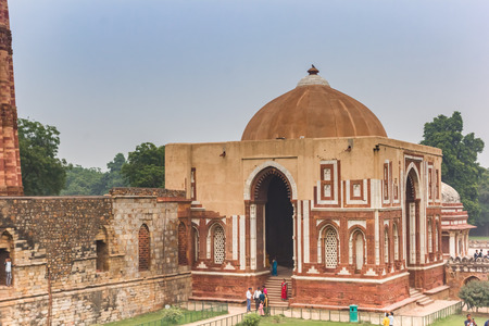 Imam Zamins Tomb at the Qutub Minar in New Delhi, India
