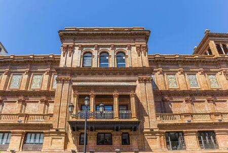 Facade of the Junta de Andalucia government building in Sevilla, Spain