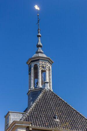 Tower of the historic church of Kuinre, Netherlands 版權商用圖片