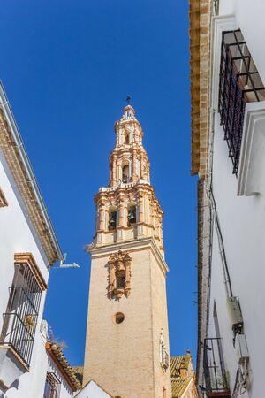 Tower of the historic San Gil church in Ecija, Spain