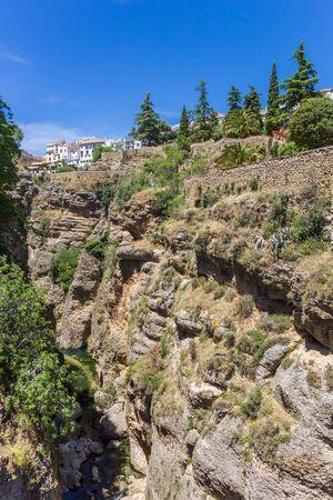 Walls of the Cuenca gardens in Ronda, Spain Reklamní fotografie