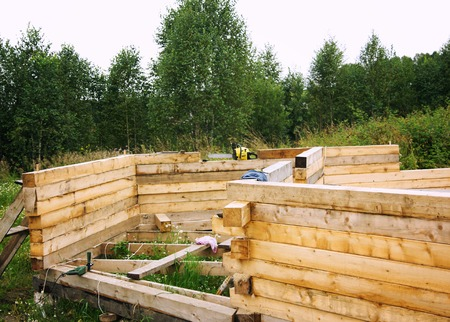 snug: Unfinished, ecological wooden house and building area