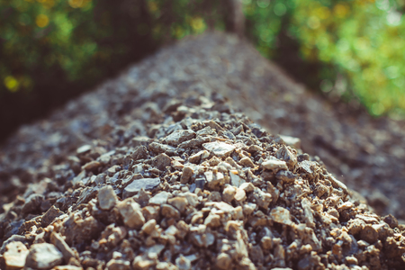 stones on a dirt road close-up of crushed stone