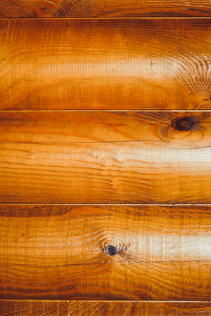 Wood texture Background of logs in the wall