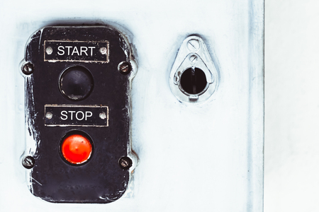 The old stop and start button