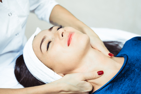 face massage in Spa salon