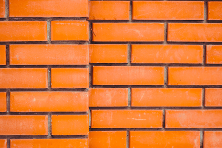 high resolution seamless texture of orange brick wall Stock Photo