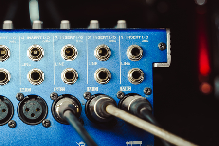 Audio connectors that are included with the audio mixer. audio cable