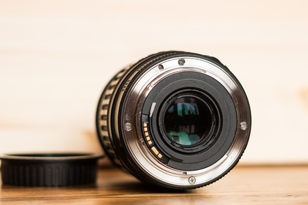 Close-up of a digital camera lens mount
